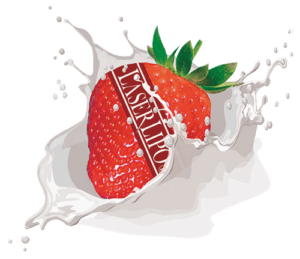 strawberry splash transparent
